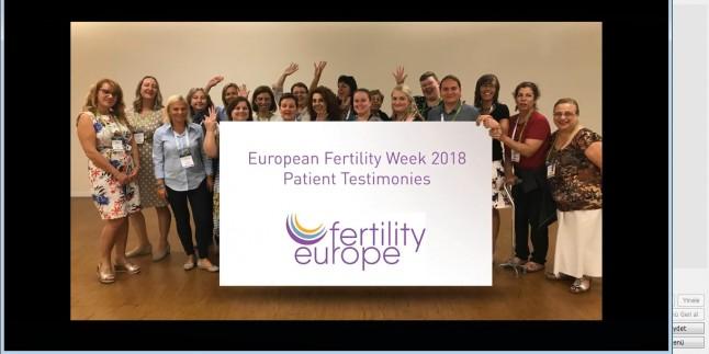 05-11 Kasım 2018 Avrupa DoÄŸurganlık Farkındalık Haftası – Europe Fertility Week 2018  EFW2018