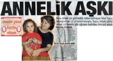 posta www.cocukistiyorum.com sitesinin ikinci haberiydi. Anneler gününde ana sayfa haberi baş haberdi.
