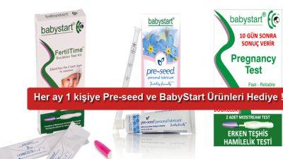 PRE-SEED ve Baby Start Ürünleri ;www.cocukistiyorum.comkullanıcılarına hediyeler veriyor..