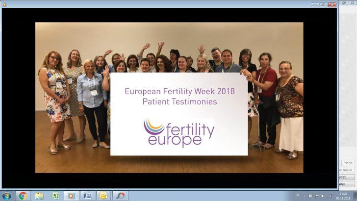 05-11 Kasım 2018 Avrupa Doğurganlık Farkındalık Haftası – Europe Fertility Week 2018  EFW2018