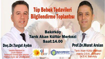 01 Aralık da Bakırköy de ÇİDER in Tüp Bebek Toplantısı